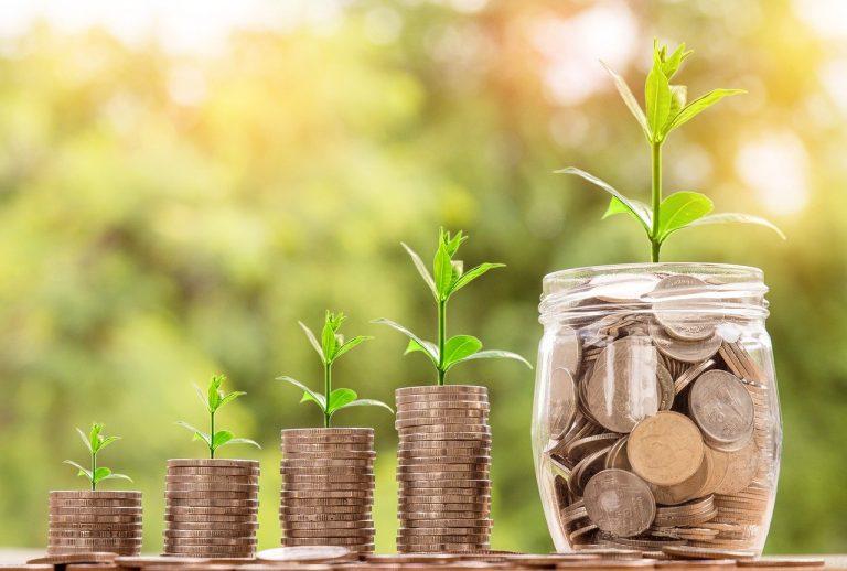 Money Savings Growing over Time